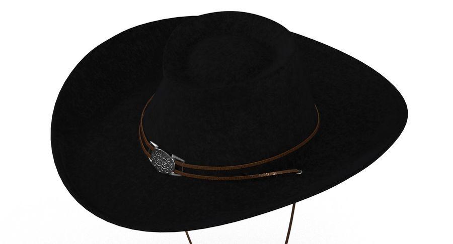 黑帽(女性) royalty-free 3d model - Preview no. 2