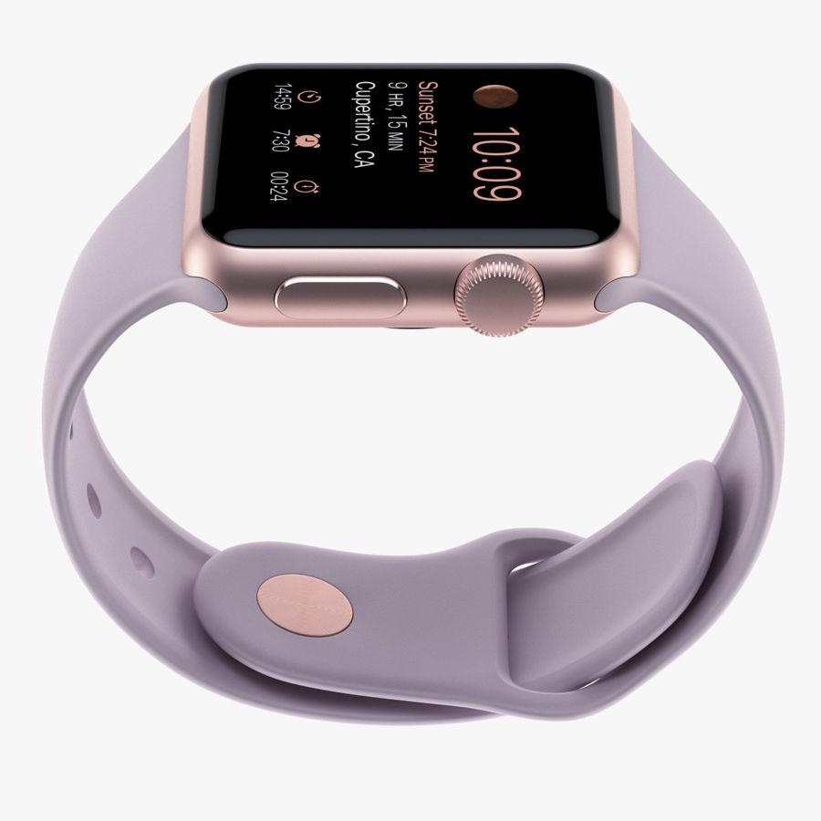 Apple Watch 38mm Rose Gold Aluminum Case With Lavender Sport Band 3d Model 39 Obj Max Ma Lwo Fbx C4d 3ds Free3d