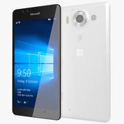 Microsoft Lumia 950 Branco 3d model