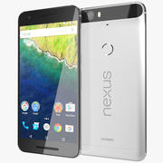 Huawei Nexus 6P Prateado 3d model