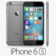 iPhone 6S Space Grey 3d model