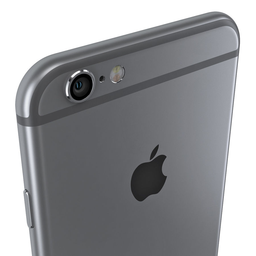 iPhone 6S Space Grey royalty-free 3d model - Preview no. 9