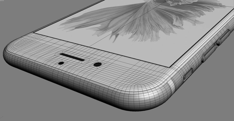 iPhone 6S Space Grey royalty-free 3d model - Preview no. 17