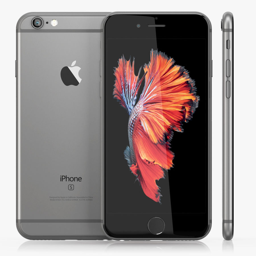 iPhone 6S Space Grey royalty-free 3d model - Preview no. 2