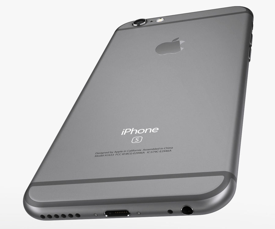 iPhone 6S Space Grey royalty-free 3d model - Preview no. 7