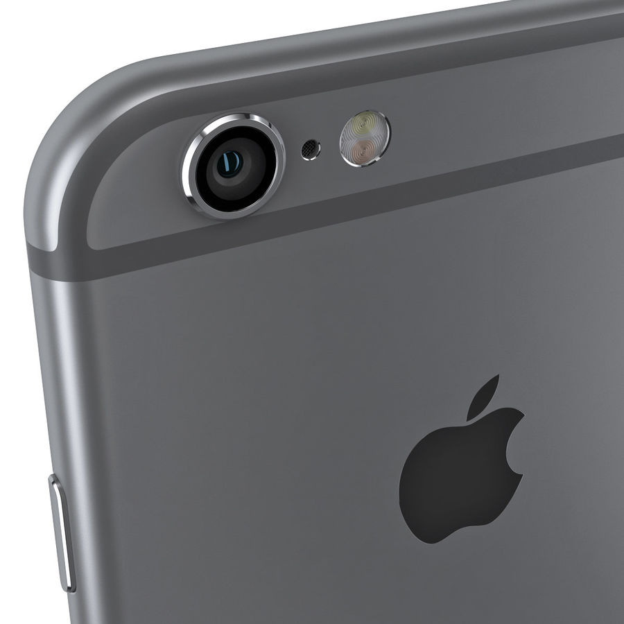 iPhone 6S Space Grey royalty-free 3d model - Preview no. 10
