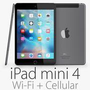 iPad Mini 4 Wi-Fi + Cellular Space Gray 3d model
