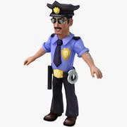 cartoon policeman 3d model