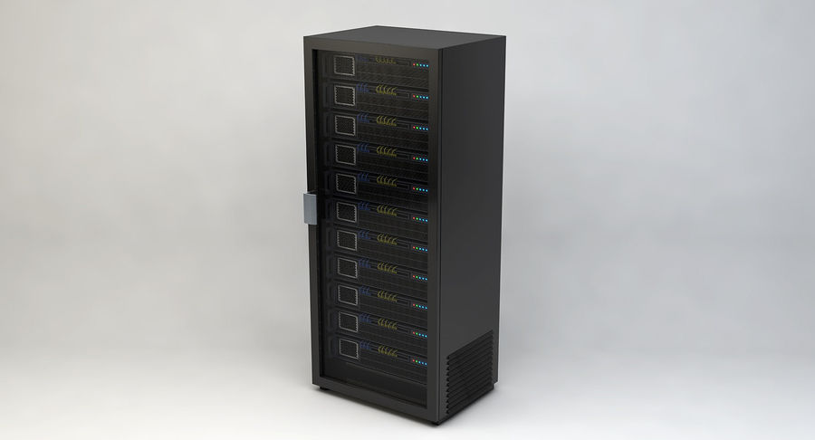 Server rack royalty-free 3d model - Preview no. 2