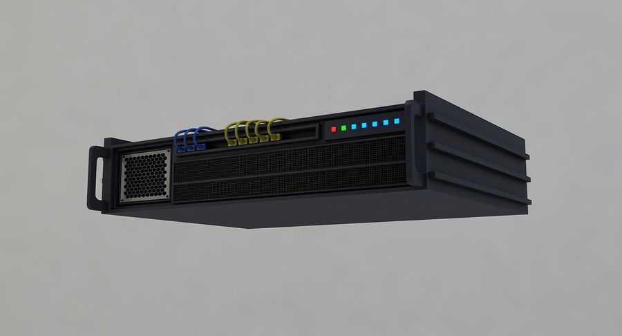 Server rack royalty-free 3d model - Preview no. 6
