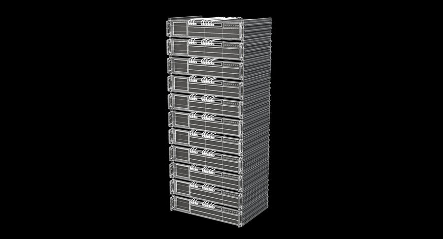 Server rack royalty-free 3d model - Preview no. 8