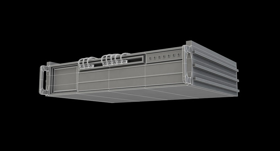 Server rack royalty-free 3d model - Preview no. 7