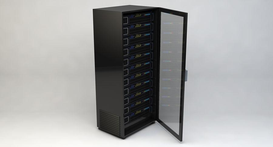Server rack royalty-free 3d model - Preview no. 4