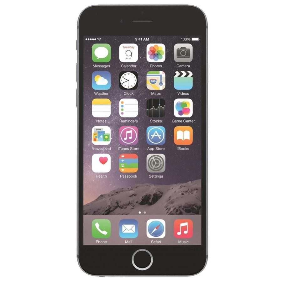 Apple iPhone 6s Plus Cinza Espaço royalty-free 3d model - Preview no. 1