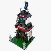 LEGO 6083 Samurai Tower 3d model