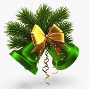 Kerstbel groen 3d model