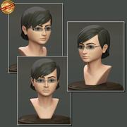 Female Teenager Portrait 3d model