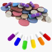 Medicinska piller 3d model