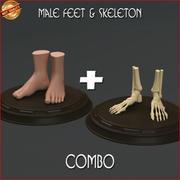 脚与骨骼组合 3d model