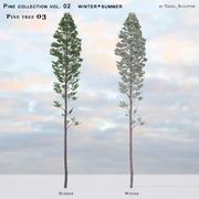 Pine-tree_03 (vol_02) estate + inverno 3d model