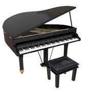 cartoon piano 3d model
