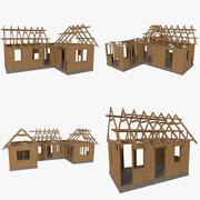 Strukturerat paket för timmerramhuskonstruktion 3d model