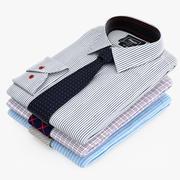 Koszule Ułożone W Krawaty 3d model