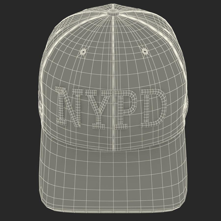 NYPD polis hatt royalty-free 3d model - Preview no. 30
