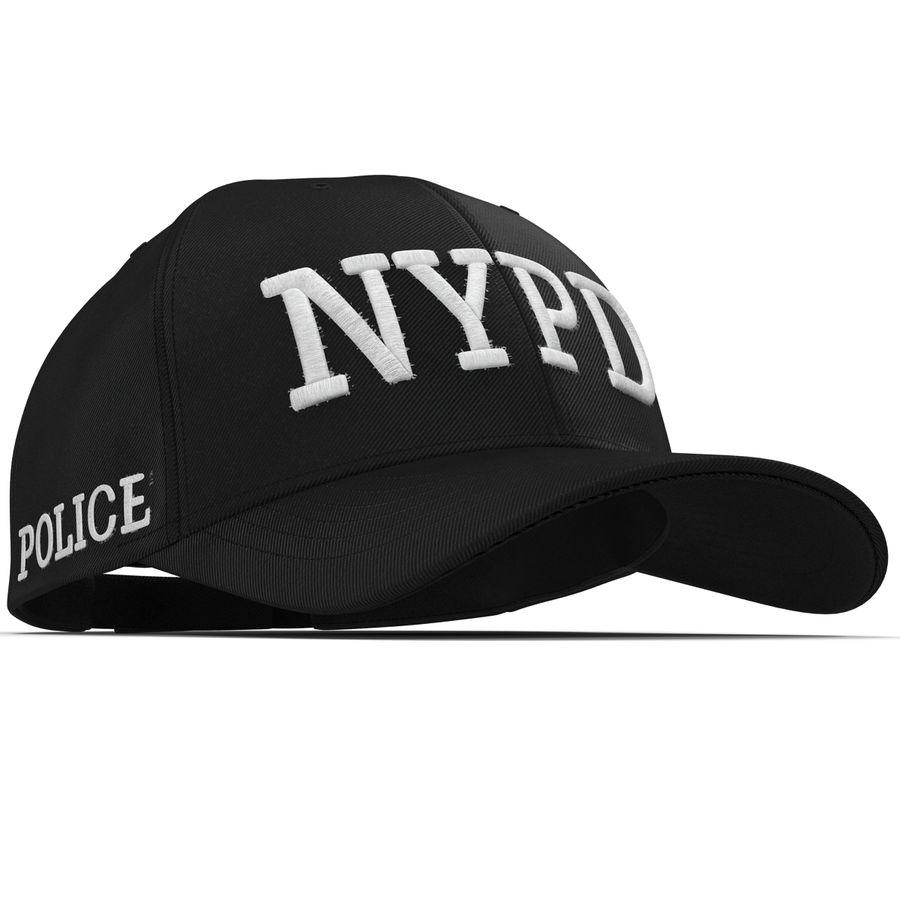 NYPD polis hatt royalty-free 3d model - Preview no. 15
