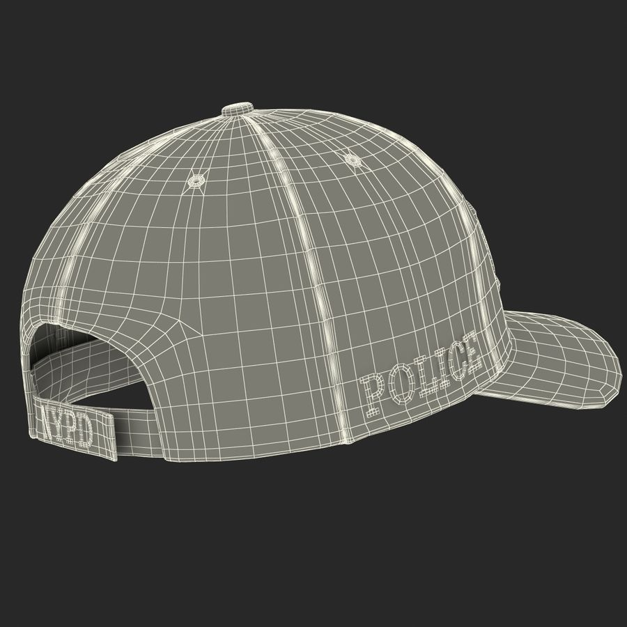 NYPD polis hatt royalty-free 3d model - Preview no. 28
