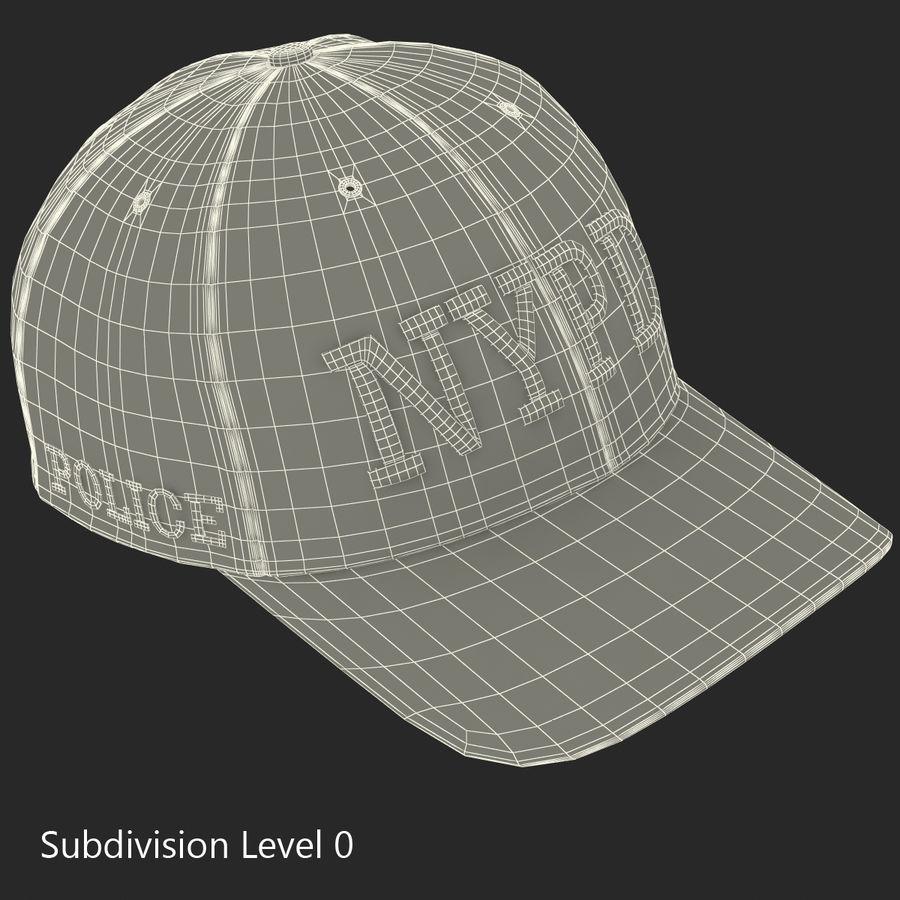 NYPD polis hatt royalty-free 3d model - Preview no. 20