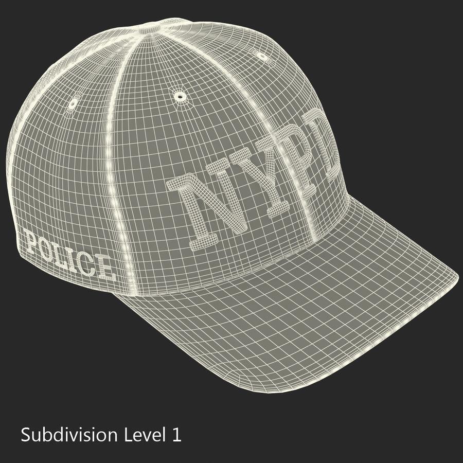 NYPD polis hatt royalty-free 3d model - Preview no. 21