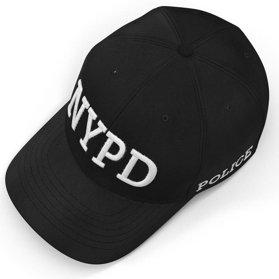 NYPD polis hatt royalty-free 3d model - Preview no. 9