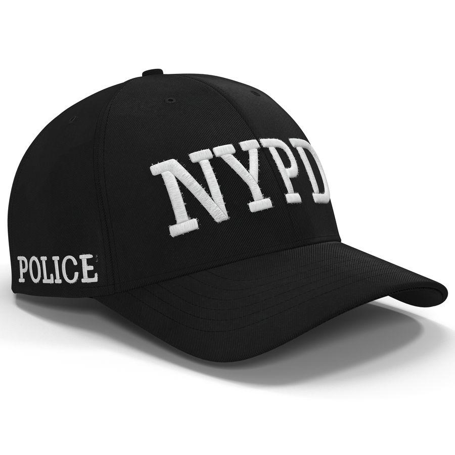 NYPD polis hatt royalty-free 3d model - Preview no. 2