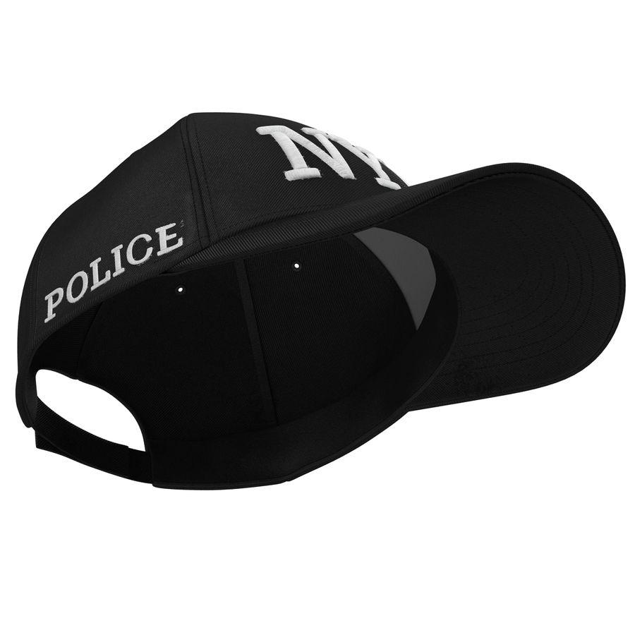 NYPD polis hatt royalty-free 3d model - Preview no. 6