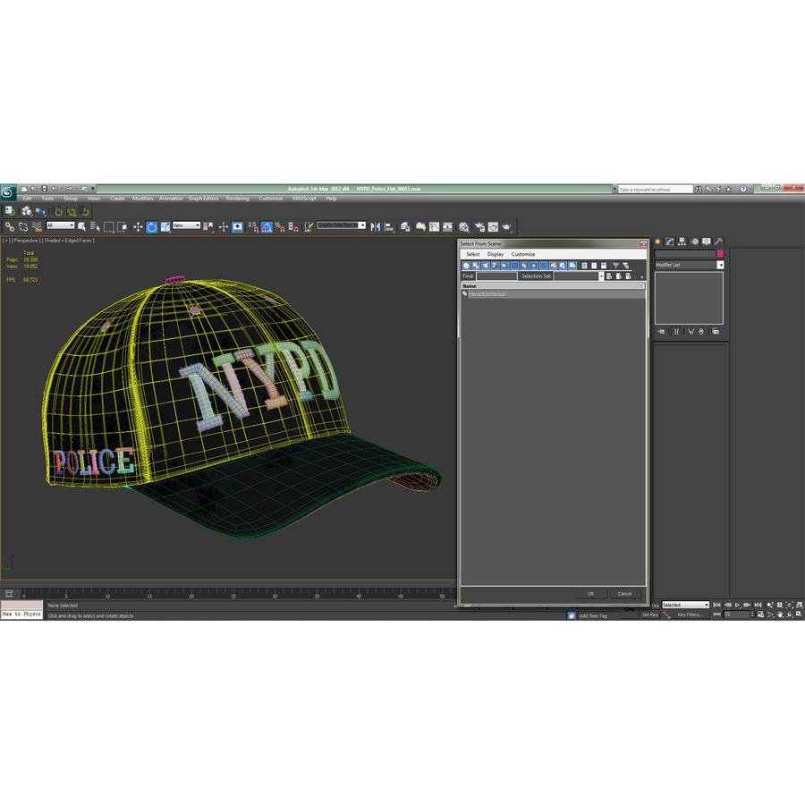 NYPD polis hatt royalty-free 3d model - Preview no. 25