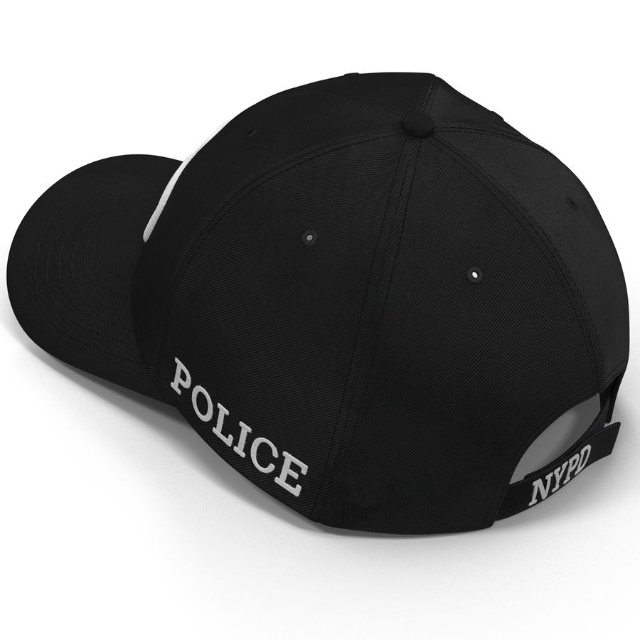 NYPD polis hatt royalty-free 3d model - Preview no. 13