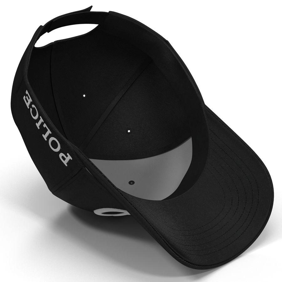 NYPD polis hatt royalty-free 3d model - Preview no. 3