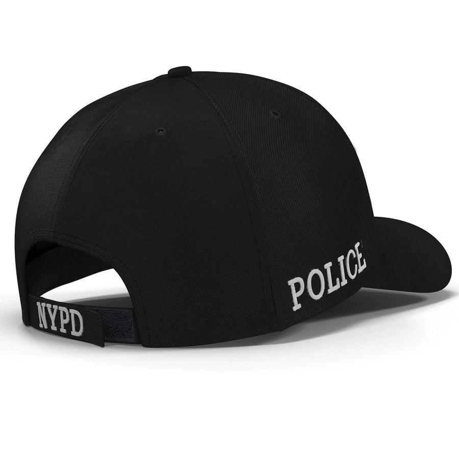 NYPD polis hatt royalty-free 3d model - Preview no. 14