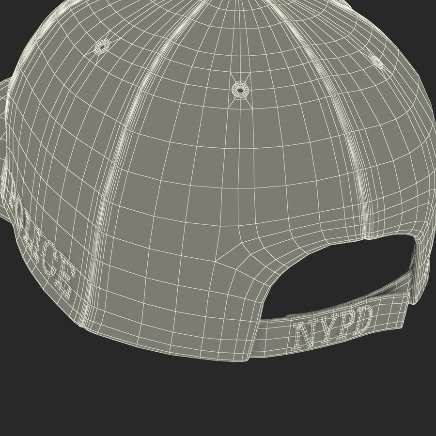 NYPD polis hatt royalty-free 3d model - Preview no. 35