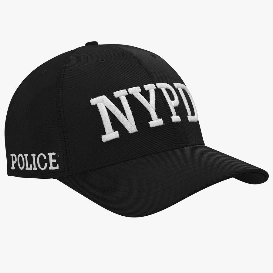 NYPD polis hatt royalty-free 3d model - Preview no. 1