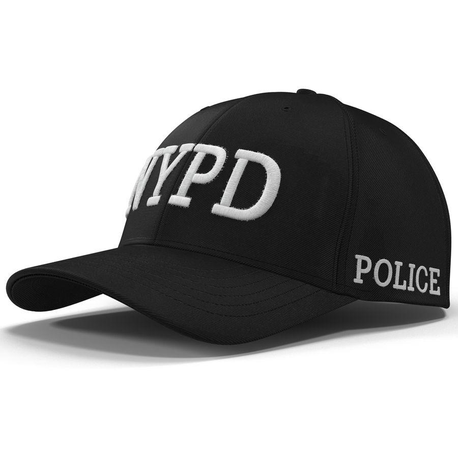 NYPD polis hatt royalty-free 3d model - Preview no. 10