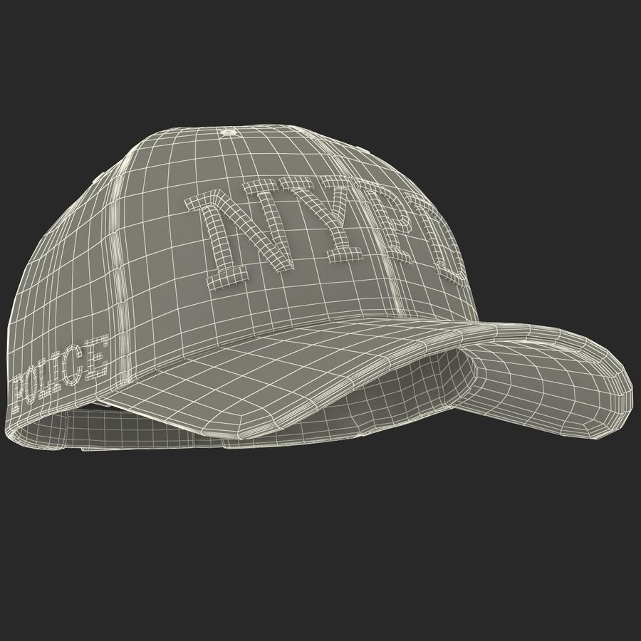 NYPD polis hatt royalty-free 3d model - Preview no. 32