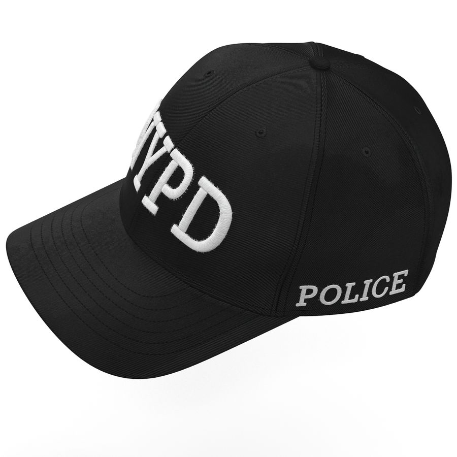 NYPD polis hatt royalty-free 3d model - Preview no. 8