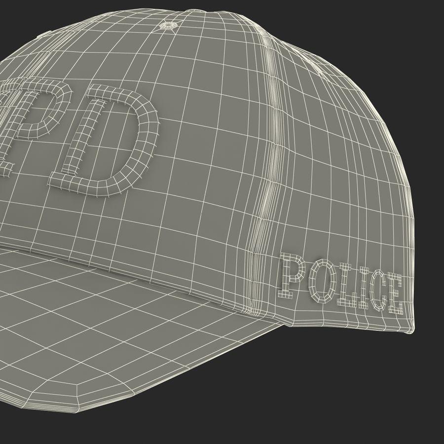 NYPD polis hatt royalty-free 3d model - Preview no. 34