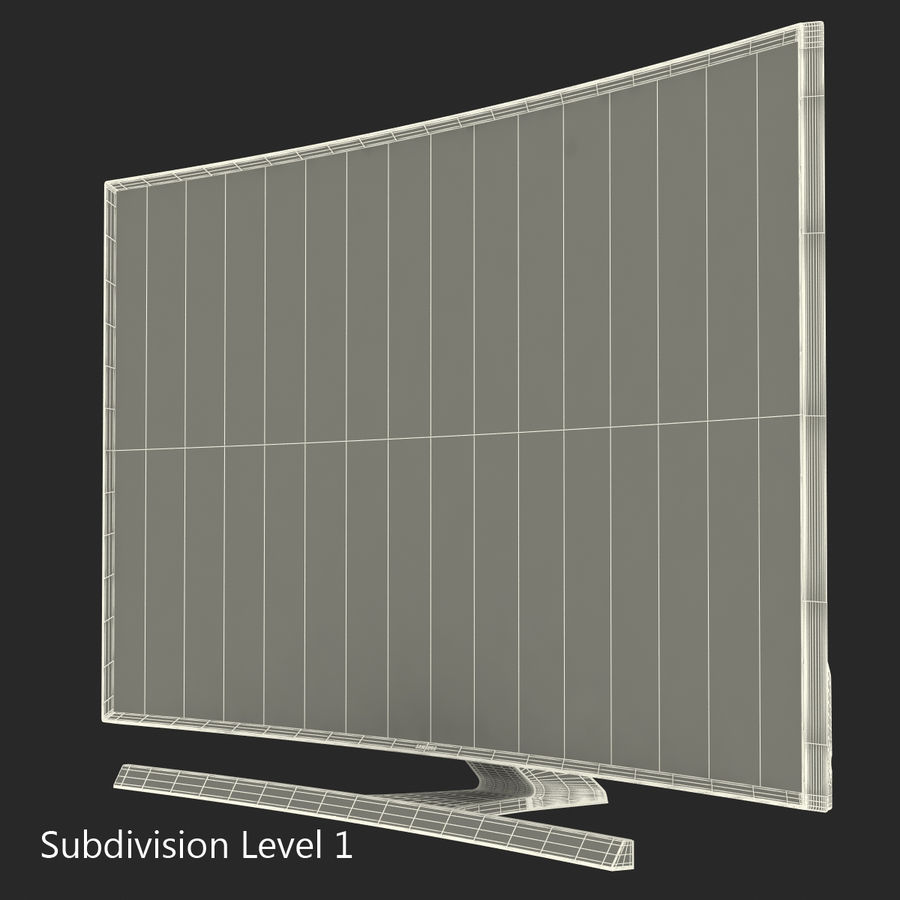 Samsung 4K UHD JU7500 Series Curved Smart TV 65 Inch royalty-free 3d model - Preview no. 16