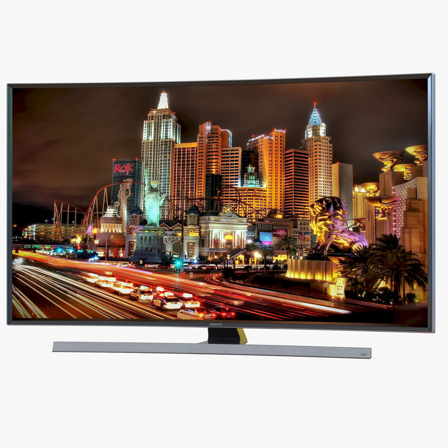 Samsung 4K UHD JU7500 Series Curved Smart TV 65 Inch royalty-free 3d model - Preview no. 1