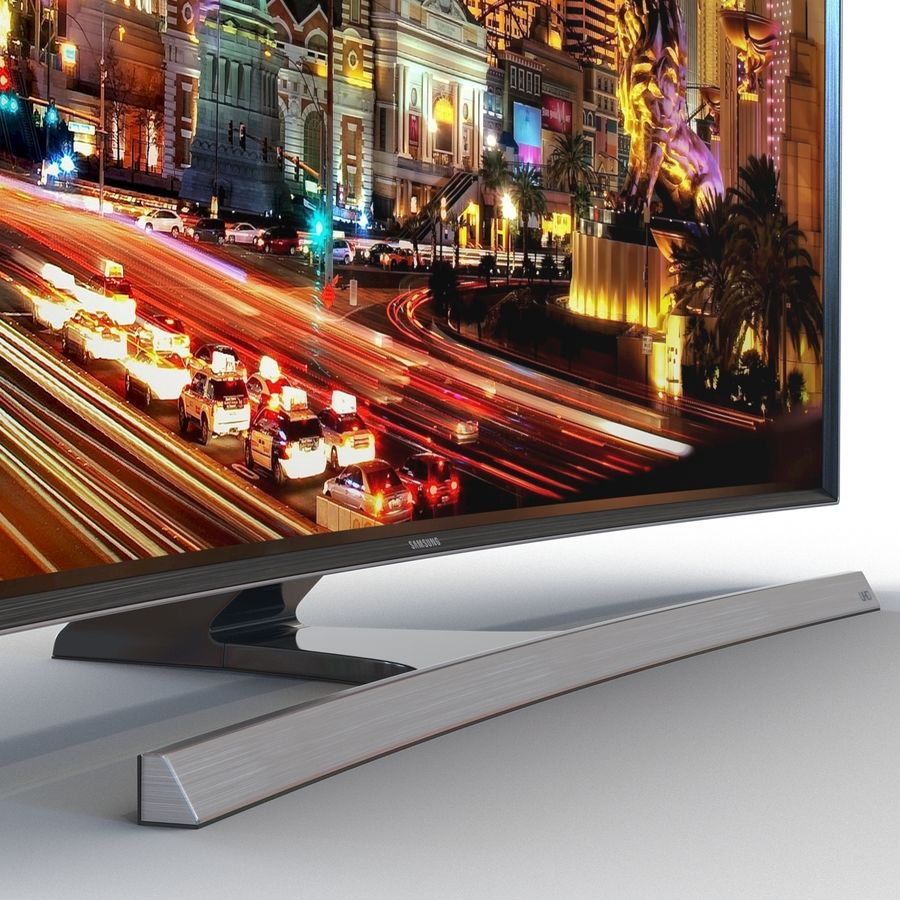 Samsung 4K UHD JU7500 Series Curved Smart TV 65 Inch royalty-free 3d model - Preview no. 10