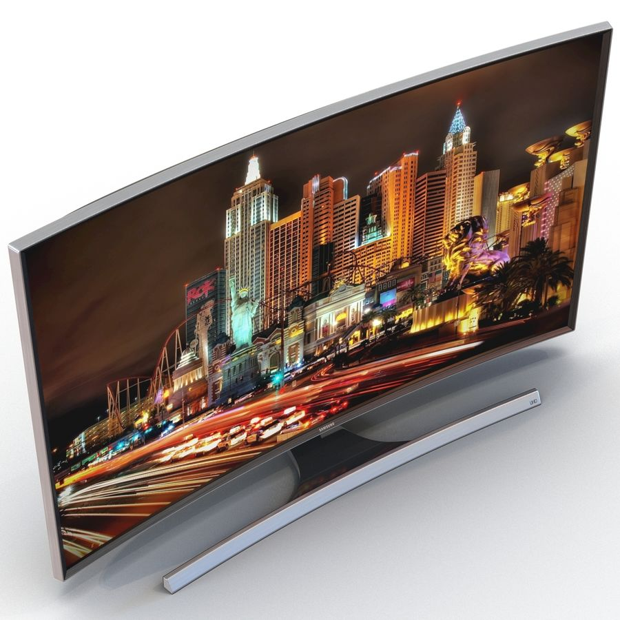 Samsung 4K UHD JU7500 Series Curved Smart TV 65 Inch royalty-free 3d model - Preview no. 8
