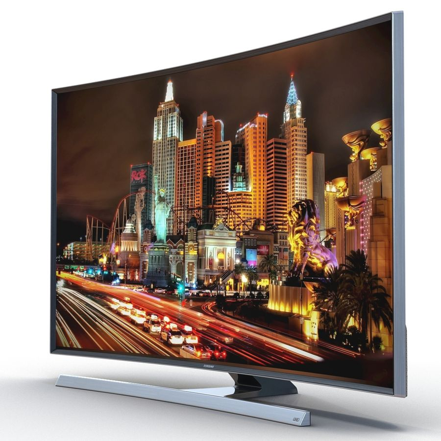 Samsung 4K UHD JU7500 Series Curved Smart TV 65 Inch royalty-free 3d model - Preview no. 6
